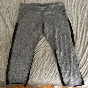 Hurley x Nike grey & faux leather workout tights